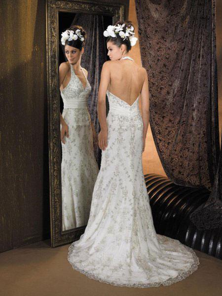 Свадебное платье с открытой спиной, фото.