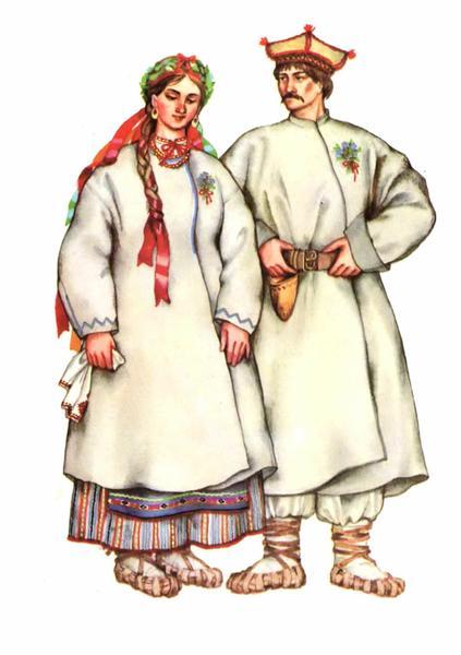 Весільний одяг Центрального полісся